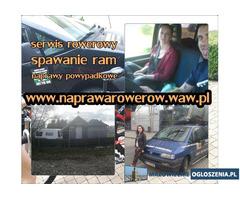 Serwis rowerowy Warszawa / Spawanie ram / PRZEGLĄDY