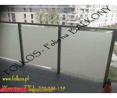 OKlejanie balkonow Warszawa - Folie balkonowe,folia na szyby Warszawa Folkos