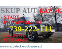 Skup aut Warszawa 739-222-111 Kupię każde auto Warszawa