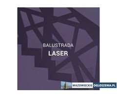 Schody z balustradą laser