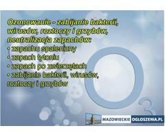 Ozonowanie Odgrzybianie Dezynfekcja Usuwanie Zapachów Nikotyny Pleśni